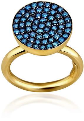Elena Votsi Cyclos Ring With Blue Diamonds