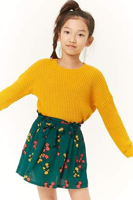 Forever 21 Girls Floral Skirt (Kids)