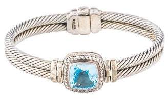 David Yurman Topaz & Diamond Albion Bracelet