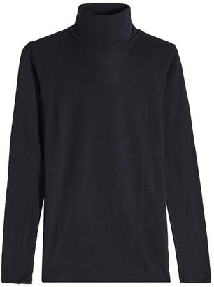 Majestic Turtleneck Top in Cotton and Cashmere