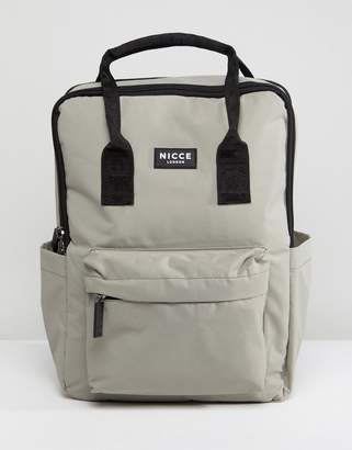 Nicce London retro backpack in gray