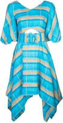 Nicholas belted check dress