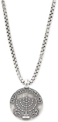 """Degs & Sal Men's Ancient-Look Shkel Coin 24"""" Pendant Necklace in Sterling Silver"""