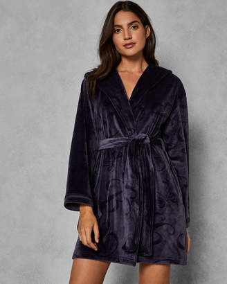 Ted Baker ZARMINA Hooded embossed dressing gown 4fef6f999
