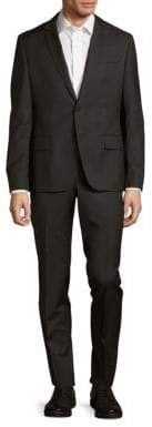 Pierre Balmain Solid Narrow Fit Wool Suit