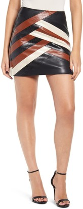 Blank NYC Blanknyc Faux Leather Colorblock Miniskirt
