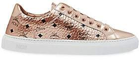 MCM Men's Champagne Visetos Logo Sneakers
