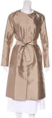 Celine Tie-Front Long Coat