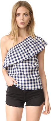 The Lady & The Sailor Ruffle Top $182 thestylecure.com