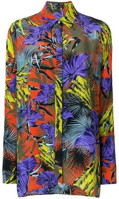 Versace Palm Leaf printed shirt