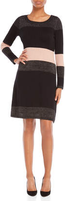 Taylor Ribbed Color Block Sweater Dress