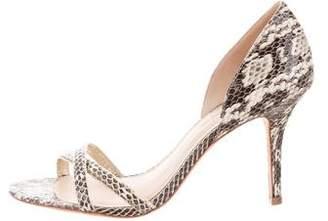 AERIN Snakeskin d'Orsay Sandals