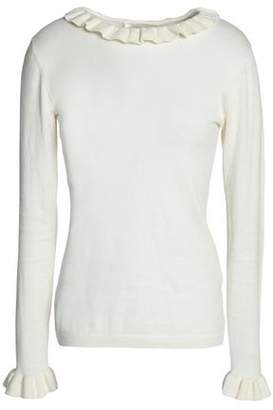 Zimmermann Ruffle-Trimmed Cotton Sweater