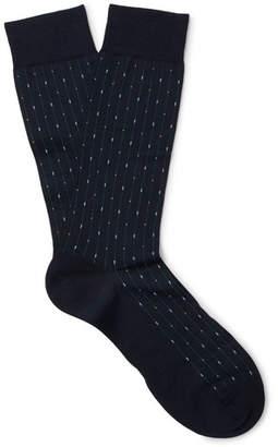 Pantherella Palmer Patterned Cotton-Blend Socks