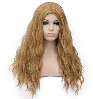 Forever 21 Amback Curly Wave Cosplay Halloween Lolita Ombre Wigs for Women Plus Wig Cap