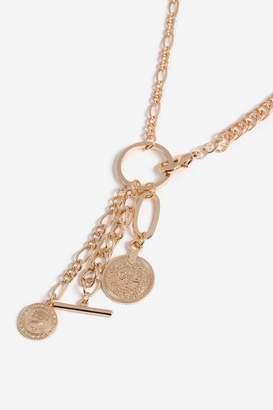 Topshop Womens **Multi Charm Lariat Necklace