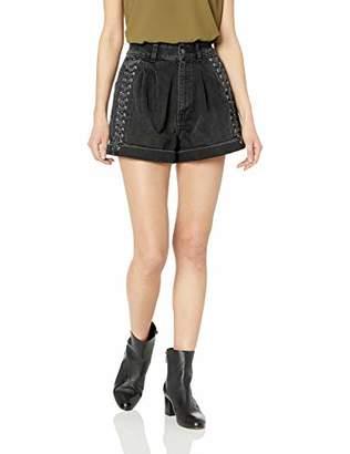 The Kooples Women's Women's Lace Up Denim Shorts