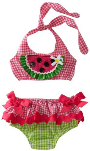 Mud Pie Baby-girls Newborn Lil' Chick Watermelon Bikini