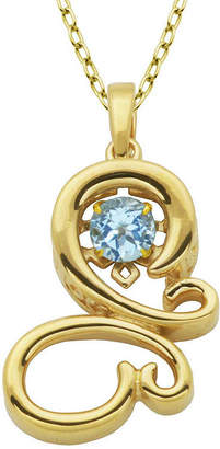 FINE JEWELRY Genuine Sky Blue Topaz Butterfly Pendant Necklace