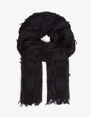 Y's Ys Cotton and wool-blend scarf