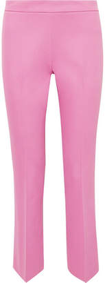 Giambattista Valli Cropped Cotton-blend Straight-leg Pants - Pink