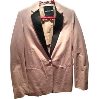 American Retro Pink Cotton Jacket for Women