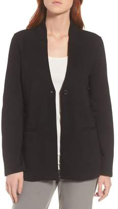 Eileen Fisher Tencel(R) Lyocell Blend Knit Blazer