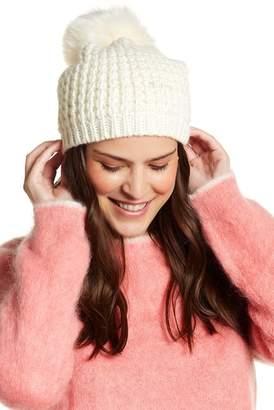 Blend of America Kyi Kyi Faux Fur Pompom Wool Classic Beanie