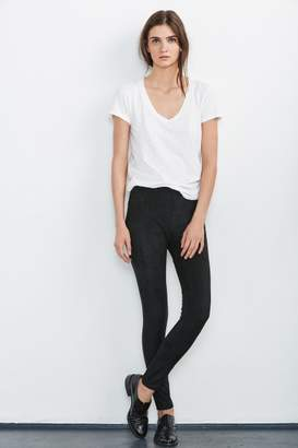 Velvet by Graham & Spencer ROSALIND FAUX SUEDE LEGGINGS