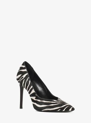 Michael Kors Muse Zebra Calf Hair Pump