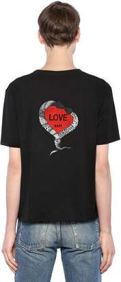 Saint Laurent Love 1971 Printed Cotton Jersey T-Shirt
