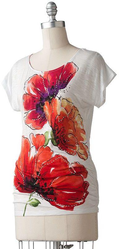 Apt. 9® floral embellished tee
