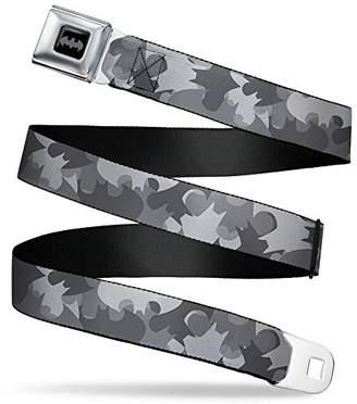 Batman Black/Silver/Black Seatbelt Belt - Webbing X-LARGE