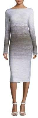 Lafayette 148 New York Ombre Stitch Wool Dress