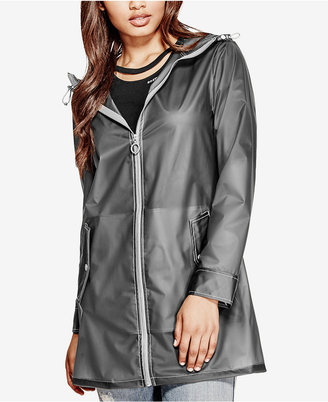 GUESS Carrie Hooded Rain Jacket $98 thestylecure.com