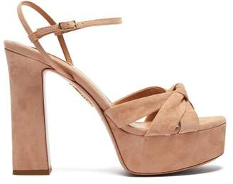 Aquazzura Baba 125 Platform Sandals - Womens - Nude