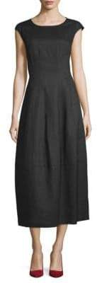 Lafayette 148 New York Linen Midi Dress