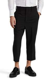 Neil Barrett MEN'S SATIN-TRIMMED CROP SKINNY TROUSERS
