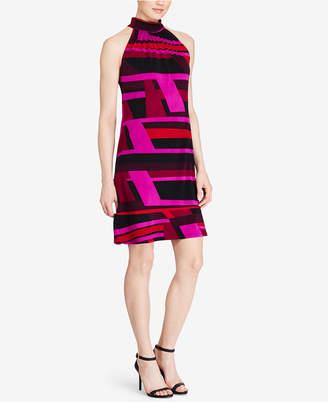 American Living Geo-Print Mock-Neck Dress $79 thestylecure.com