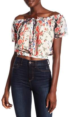 ALLISON NEW YORK Off-the-Shoulder Mixed Floral Blouse