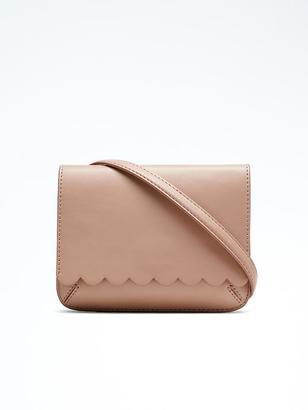Scallop Italian Leather Mini Crossbody $78 thestylecure.com