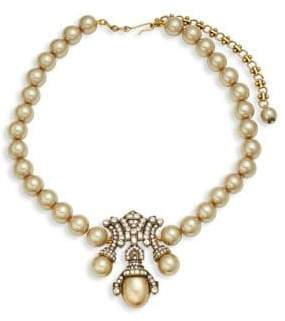 Heidi Daus Deco Faux Pearl Pendant Necklace
