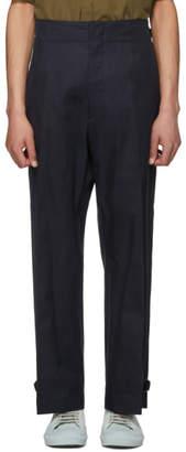 Jil Sander Navy Pedro Buckle Trousers