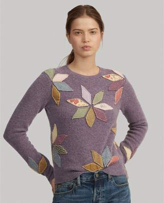 Ralph Lauren Wool-Blend Patchwork Sweater