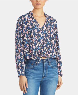 Rachel Roy Edina Floral-Print Tie-Hem Top