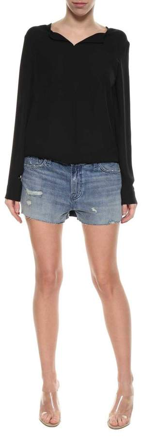 Denim Low Rise Shorts From