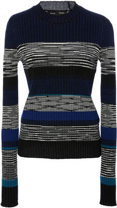 Proenza Schouler Striped And Marled Rib-Knit Sweater
