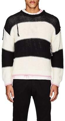 NSF Men's Striped Cotton Oversized Sweater