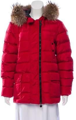 Moncler Fur-Lined Down Coat