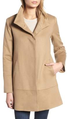 Fleurette Stand Collar Cashmere Coat